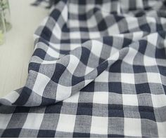 Navy Plaid Cotton Fabric 59 Wide By the Yard 57278 by landofoh