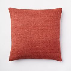 Solid Silk Hand Loomed Pillow Cover - Ginger #westelm