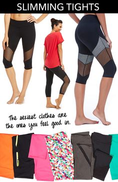 Don't tell your gym friends.You don't want everyone finding out how to look as hot as you. The big secret? A slimming pants! They make you feel and look skinnier while the compression technology helps you move like an athlete. Fitness Diet, Fitness Motivation, Fitness Wear, Zumba, How To Look Skinnier, Get Healthy, Healthy Weight, I Work Out, Workout Wear