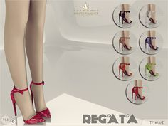 New shoes for your sim! Come in 8 colours (patent leather and victorian pattern). Joints are perfectly assigned. All LODs are replaced with new ones.  Found in TSR Category 'Sims 4 Shoes Female'
