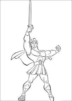 Hercules Kleurplaten voor kinderen. Kleurplaat en afdrukken tekenen nº 23