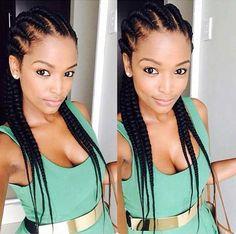 Best Black Braided Hairstyle - Ghana Cornrows