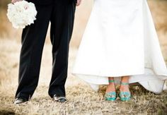 Teal wedding decor ideas. Teal shoes. Doing this!!!  So sold!!!