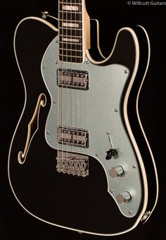 Fender's limited edition Telecaster Thinline Super Deluxe is an exceptionally stylish take on the guitar that started it all. Available in Black and Olympic White, its elegant appointments include a resonant semi-hollow basswood body with double binding and a single F-hole, matching painted heads...
