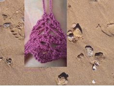 Pulsera tobillera  http://www.crochetenlasnubes.com/?p=1575