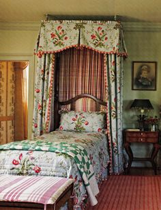 Cottage Bedroom - Barry Dixon's Virginia Farmhouse Guest Room, Southern Accents March April 2009