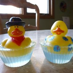 Rubber Ducky Soap - easy to make yourself with glycerin soap.