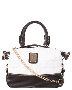 Kardashian Kollection Aust KK Quilted Top Zip Shopper Black and White Nicole By Opi, Kardashian Kollection, Shopper Bag, Handbag Accessories, Purses And Handbags, Clutch Bag, Jewelry Collection, Clutches, Louis Vuitton