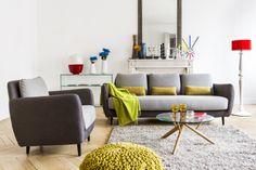 Ella 3-Sitzer-Sofa mit Stoffbezug