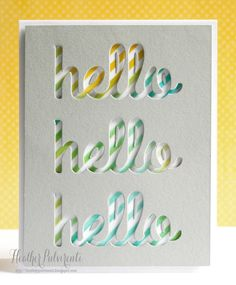 Hello Word Die [WSD263S] - $8.00 : Whimsy Stamps