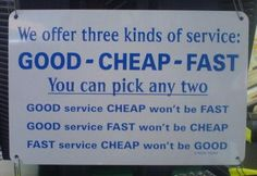 For the Service industry
