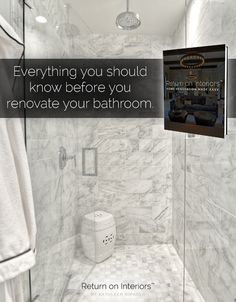 Everything you NEED to know BEFORE you renovate your bathroom! Return on Interiors™- http://returnoninteriors.com/