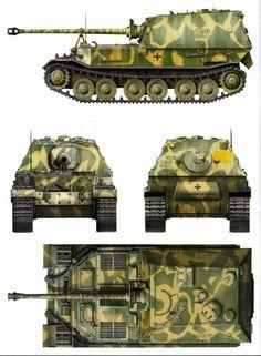 cm Jagdpanzer Tiger(p) Ferdinand/Elefant Army Vehicles, Armored Vehicles, Elefant Design, Camouflage, Tank Armor, War Thunder, Military Armor, Ferdinand Porsche, Tank Destroyer