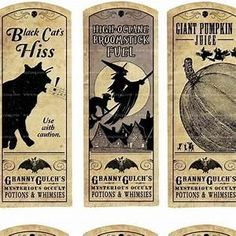 Free Halloween Potion Labels | Halloween | Pinterest