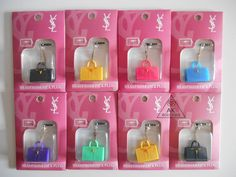YSL fashion headphone jack dust plug, only £4.99 or 3 for £10 www.akboutique.co.uk