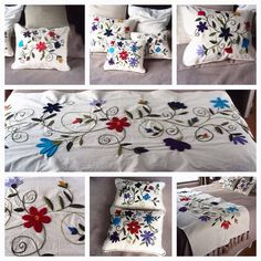 Pie de cama buscar en www.facebook.com/bordados.ines1 Ines Etcheberry