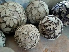 garden ideas with cement Olga Bondareva © Olga Bondareva © Cement Art, Concrete Crafts, Concrete Art, Concrete Projects, Concrete Garden, Ceramica Artistica Ideas, Cement Leaves, Garden Balls, Pottery Techniques