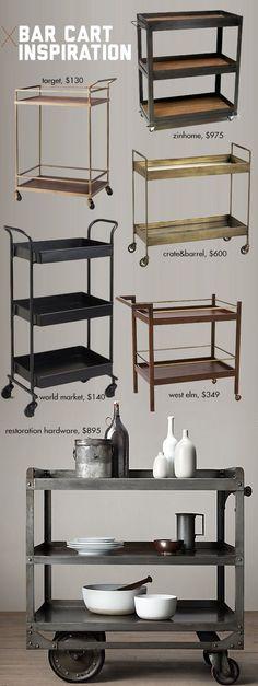 DIY Bar Cart Inspiration