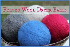 Learn how to make wool dryer balls, then save time, money, and energy by tossing four to six felted balls in with each dryer load. They also reduce static.