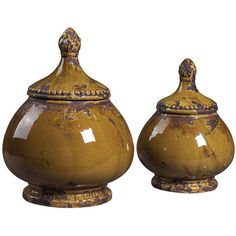 I pinned this 2 Piece Ciri Decorative Jar Set from the Tuscan Villa event at Joss and Main!