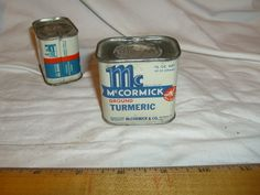 1942 McCormick Ground Turmeric Bee Brand Spice Tin, UNOPENED 1-1/2 oz.  #McCormick