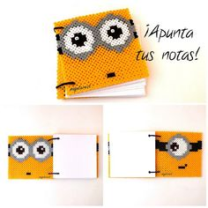 Minion notebook cover hama beads by maynterest