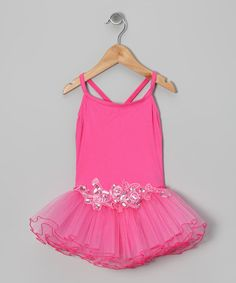 Take a look at this Hot Pink Sequin Thin Skirted Leotard - Infant, Toddler & Girls by Seesaws & Slides on #zulily today!