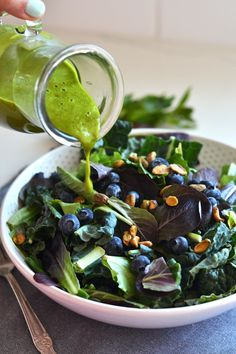 This Sweet Basil Dressing is Whole30 compliant and sweetened with dates! Perfect for a big summer salad!