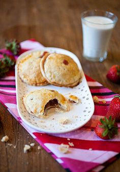 Strawberry-Rhubarb Hand Pies ~ Crepes of Wrath