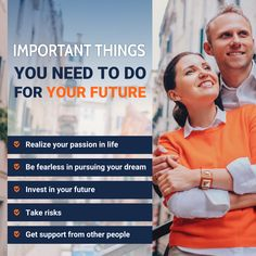Important Things You Need to Do for Your Future Insurance Benefits, Take Risks, Peace Of Mind, Dreaming Of You, Investing, Passion, How To Plan, Future, Life
