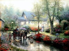 Sunday Outing ~ Thomas Kinkade