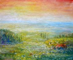 """Midday"" by Osipova Anzhelika. Oil on canvas. #art #oilpainting #artwork #artist #painitng http://www.artwork-gallery.ru/catalog/zhivopis/newbie/polden"