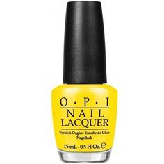Whether you are familiar with OPI nail varnish or want to try it, you won't be disappointed. OPI Nail Polish - Lacquer 15 ml. Find the OPI nail varnish that suits you best amongst all the present collections. Mint Green Nail Polish, Summer Nail Polish, Pastel Nail Polish, Opi Nail Polish, Opi Nails, Nail Polishes, Yellow Nail, Bright Yellow, Manicure