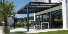 Glass and aluminium pergola TERRADO Glass roof system Collection By STOBAG Whilst age-old within thought, Patio Pergola, Backyard Canopy, Garden Canopy, Pergola Canopy, Wooden Pergola, Canopy Outdoor, Canopy Tent, Patio Roof, Ikea Canopy