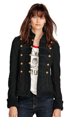 French Terry Military Jacket - Denim & Supply Shop All - Ralph Lauren UK