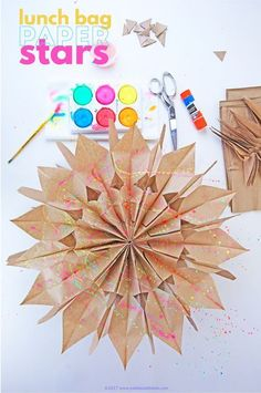 Learn how to make paper stars out of lunch bags. These can be made quickly and inexpensively!