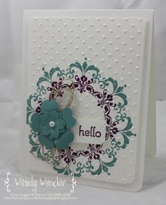 Sunday, August 2014 Wickedly Wonderful Creations: Stampin' Up! Daydream Medallions, A Dozen Thoughts, Lost Lagoon, Blackberry Bliss Scrapbook Cards, Scrapbooking, Daydream Medallions, Stampin Up Anleitung, Stampinup, Stamping Up Cards, Get Well Cards, Cute Cards, Pretty Cards