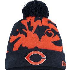 ff9059dc4 Youth Chicago Bears New Era Navy Logo Whiz Cuffed Knit Hat with Pom