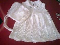 Baby Sweater Patterns, Baby Knitting Patterns, Lace Knitting, Baby Patterns, Knitting For Kids, Crochet For Kids, Crochet Baby, Knitted Baby, Baby Overall