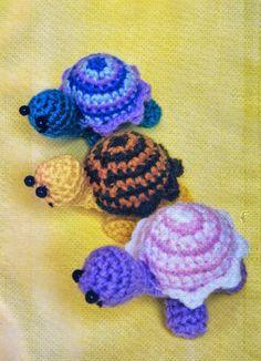 Crochet y dos agujas: Amigurumis tortuguitas muy simpáticas!