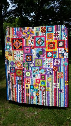 My first Gypsy Wife quilt made from scrap fabric only