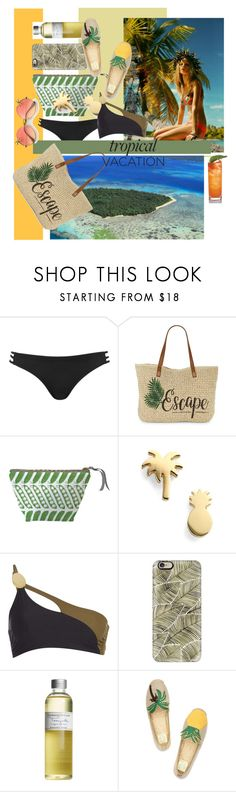 """""""Escape to tropics by #roxariaone"""" by roxariaone ❤ liked on Polyvore featuring Topshop, Straw Studios, Thornback & Peel, Seoul Little, Calvin Klein, Casetify, Farmaesthetics and Tory Burch"""