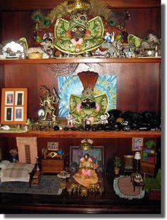 three shelves and miniature furnishings!