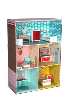 DIY dollhouse cardboard
