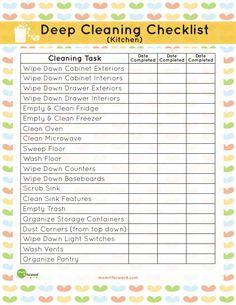 Printable: Kitchen Cleaning Checklist
