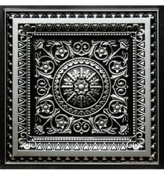 223 Antique Silver Faux Tin Ceiling Tile