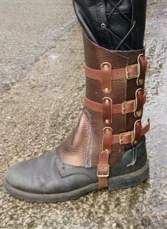 Steampunk Gaiters: just need some professional finishing and you have a winner