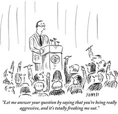Slide Show: Town Hall Debate Cartoons New yorker cartoons This or that questions Giclee print