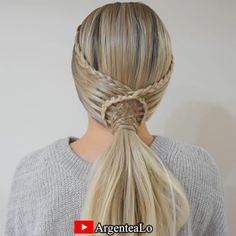 Braided Ponytail Hairstyles, Pretty Hairstyles, Braided Hairstyles, Braid Ponytail, Braids, Shaved Hair Designs, Front Hair Styles, Hair Arrange, Love Hair