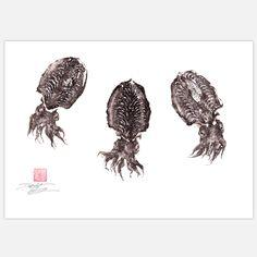Fab.com | Cuttlefish Swarm Print 18x12